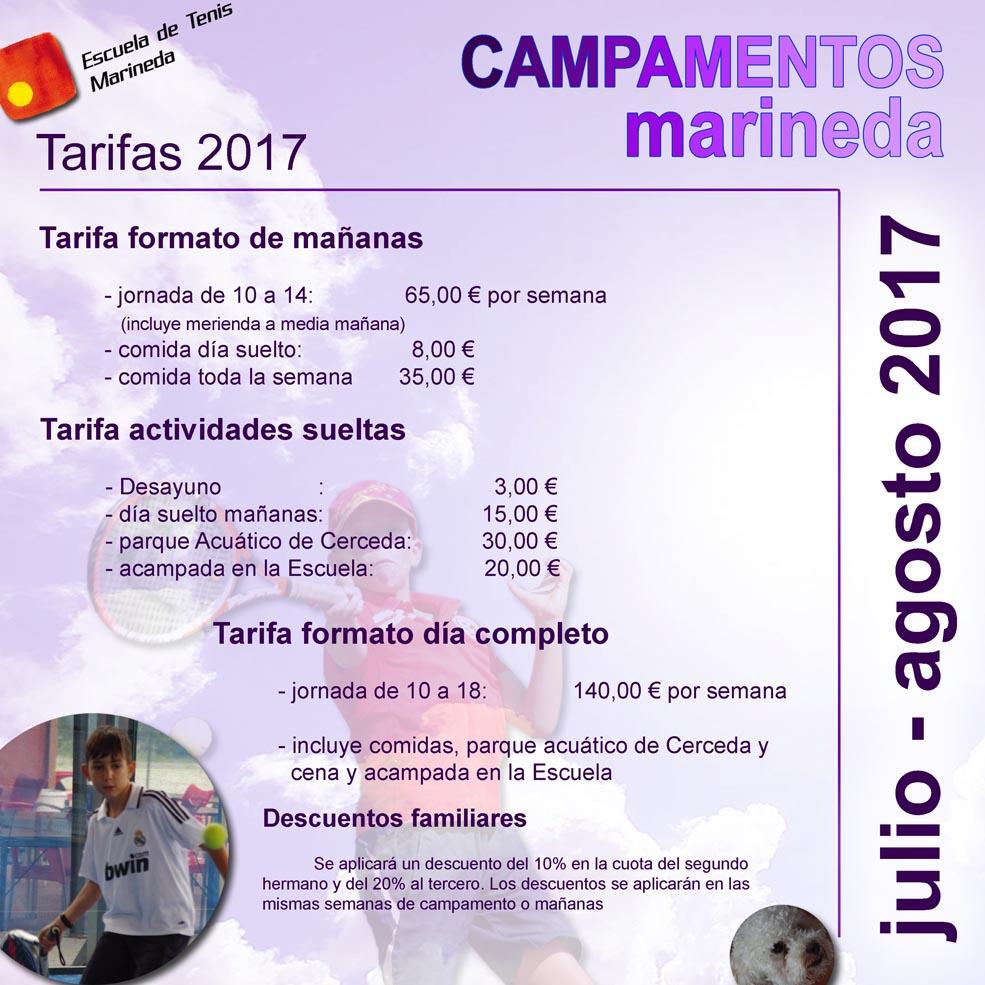 tarifas campus 2017